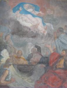 Etude préalable à la restauration de l'Assomption de la Vierge par les Ateliers Verre Jadot, Montmorillon, Monuments Historiques