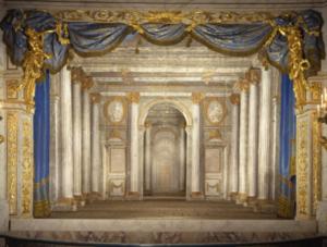 Restauration du Temple de Minerve, décor 18e du théâtre de la Reine à Versailles