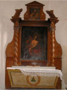 Ateliers verre jade, étude préalable à la restauration du retable du chœur de l'église Saint André de Louzac (16) en collaboration avec Anne-Elizabeth Rouault Momuments Historiques